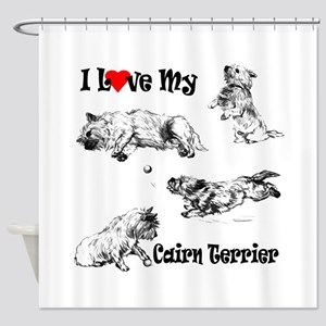 Love My Cairn Shower Curtain