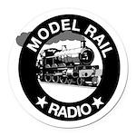 modelrailradio_logo Round Car Magnet