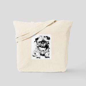 Shih Tzu Puppy Tote Bag
