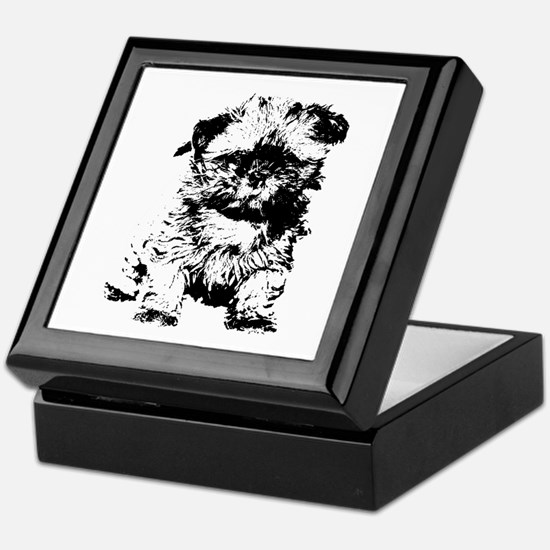 Shih Tzu Puppy Keepsake Box