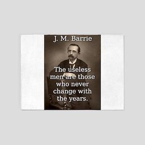 The Useless Men - J M Barrie 5'x7'Area Rug