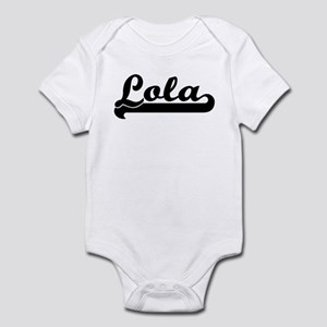 Black jersey: Lola Infant Bodysuit