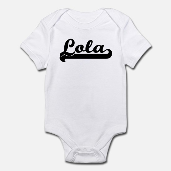 Black jersey: Lola Infant Bodysuit