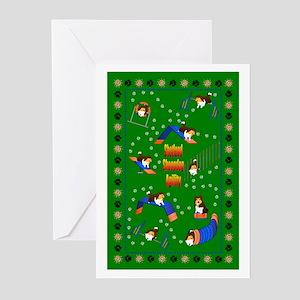 Shetland Sheepdog Agility Greeting Cards (Pk of 10