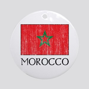 Morocco Flag Ornament (Round)
