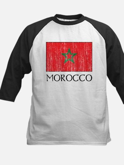 Morocco Flag Kids Baseball Jersey