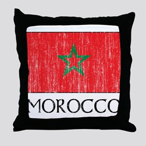 Morocco Flag Throw Pillow