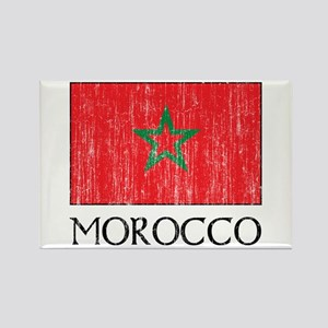 Morocco Flag Rectangle Magnet