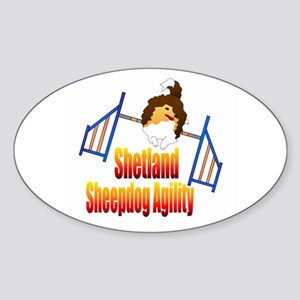 Shetland Sheepdog Agility Sticker (Oval)