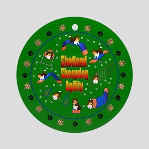 Shetland Sheepdog Agility Ornament (Round)