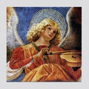 Melozzo Music Making Angel Tile Coaster