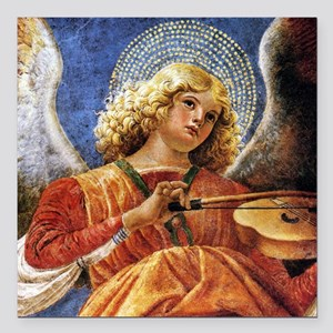 """Melozzo Music Making Angel Square Car Magnet 3"""" x"""