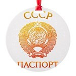 Passport soviet Round Ornament