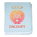 Passport soviet baby blanket