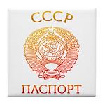 Passport soviet Tile Coaster