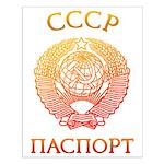 Passport soviet Small Poster