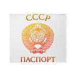 Passport soviet Throw Blanket