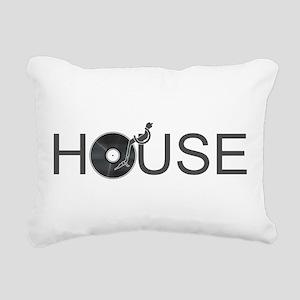 House Music Rectangular Canvas Pillow