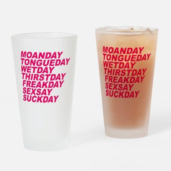 Sex Week Drinking Glass