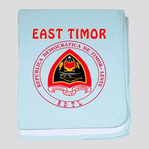 East Timor Coat of arms baby blanket