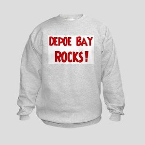 Depoe Bay Rocks Kids Sweatshirt
