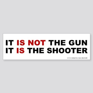 Gun vs Shooter, Sticker (Bumper)