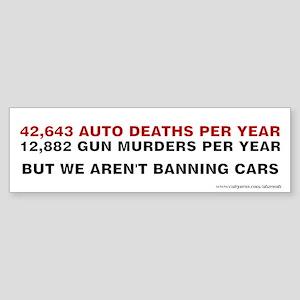 Ban Cars, Sticker (Bumper)