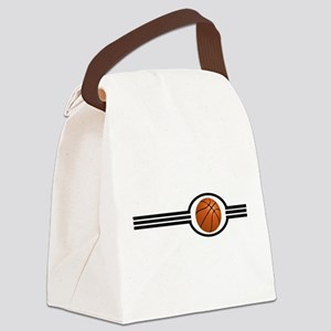 Basketball Stripes Canvas Lunch Bag