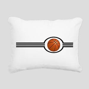 Basketball Stripes Rectangular Canvas Pillow