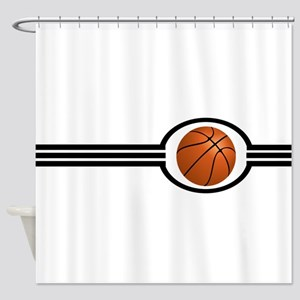 Basketball Stripes Shower Curtain