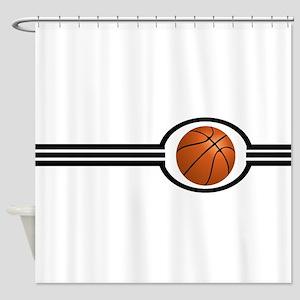 Basketball Stripes Shower Curtain