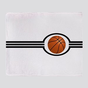 Basketball Stripes Throw Blanket