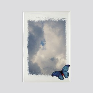 Butterfly Sky Rectangle Magnet