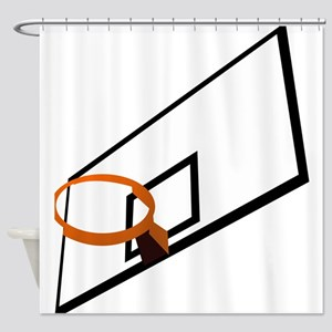 Basketball Goal Shower Curtain