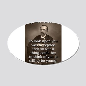 To Look Upon You - J M Barrie Wall Decal