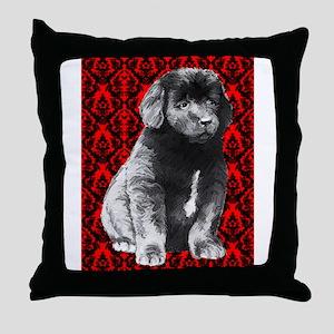 brocaded newfy Throw Pillow