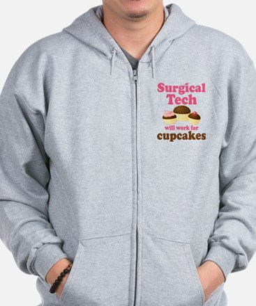 Surgical Tech Funny Zip Hoodie