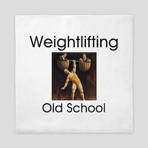 Weightlifting Old School Queen Duvet