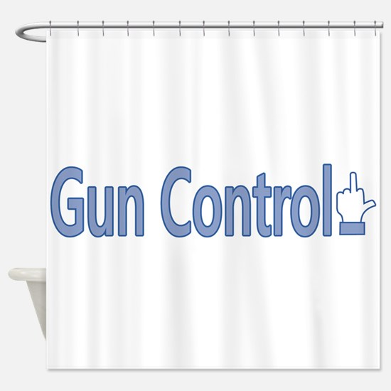 Gun Control Dislike Shower Curtain