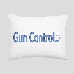 Gun Control Dislike Rectangular Canvas Pillow