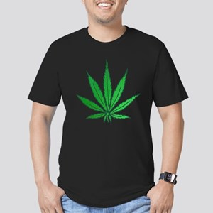 Pot Leaf Men's Fitted T-Shirt (dark)