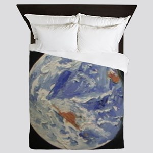 Planet Earth Queen Duvet