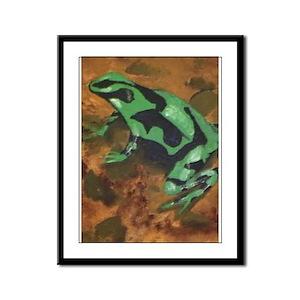 Poison Dart Frog Framed Panel Print