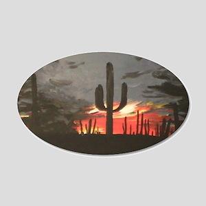 Desert Sunset 22x14 Oval Wall Peel