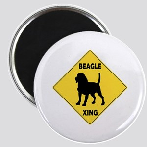 Beagle Crossing Sign Magnet