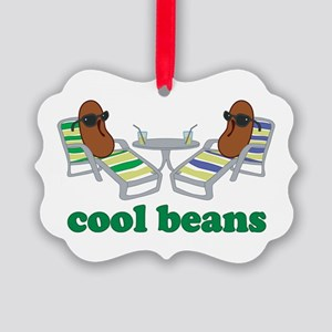 Cool Beans Picture Ornament