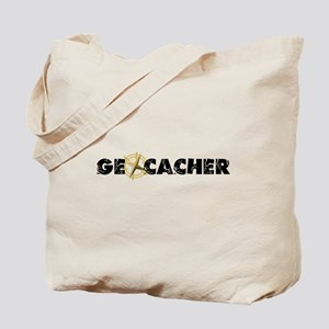 Geocacher with compass as O Tote Bag