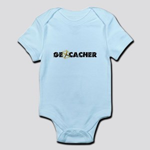 Geocacher with compass as O Infant Bodysuit