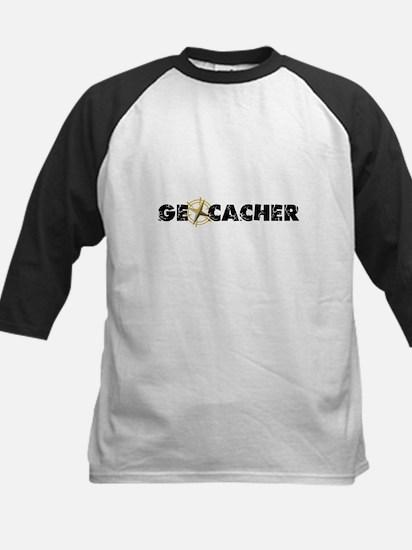Geocacher with compass as O Kids Baseball Jersey
