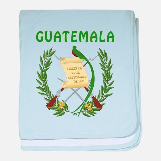 Guatemala Coat of arms baby blanket